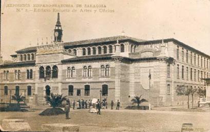 Escuela de Artes durante la Expo de 1908